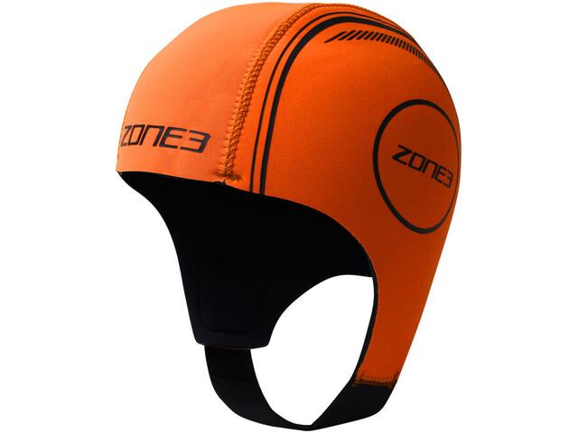 Zone3 Neoprene Swimming Cap hi-vis orange